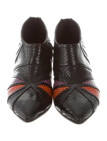 discount cheap price clearance cheap real Rodarte Embossed Pointed-Toe Booties dr5yM
