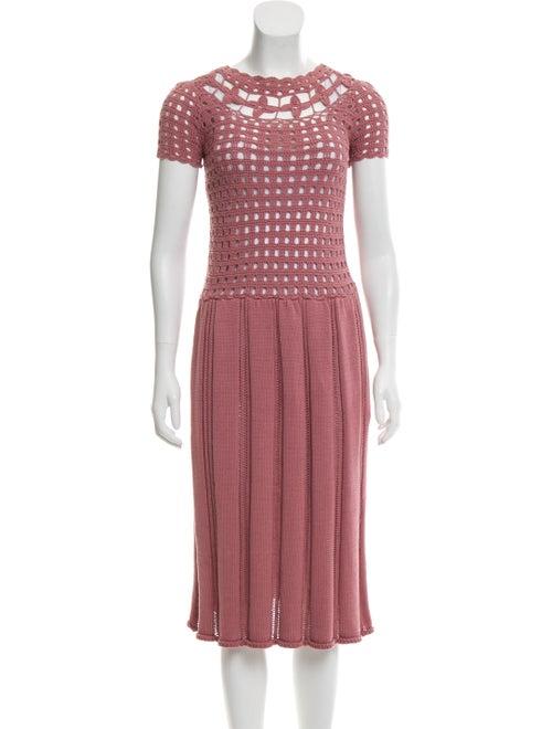 Rodarte Crochet Mini Dress Mauve