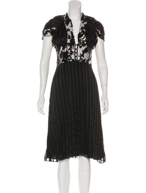 Rodarte Embellished Midi Dress Black