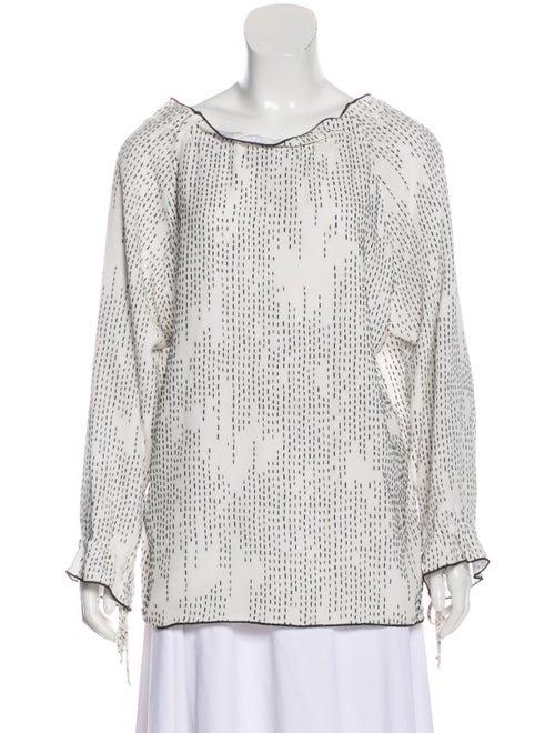 Rodarte Silk Textured Blouse White