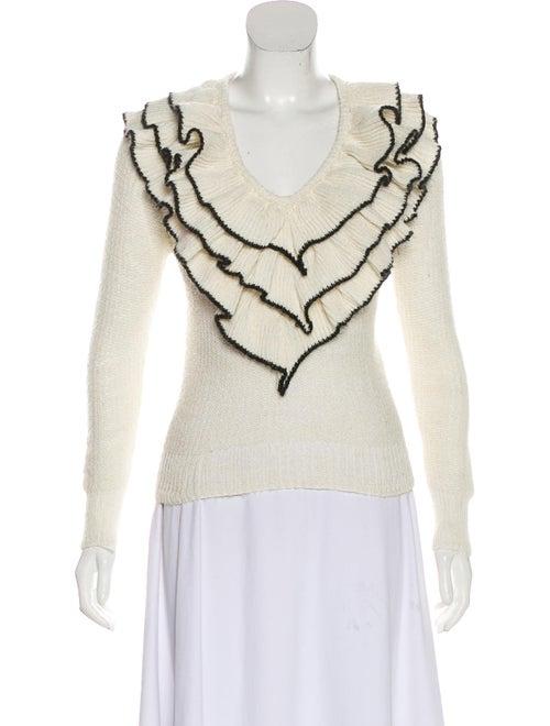 Rodarte Knit Ruffle Sweater black
