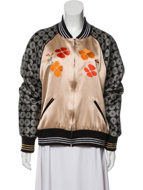 Rodarte Embroidered Bomber Jacket Tan