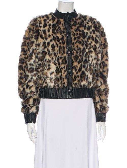 Rodarte Animal Print Faux Fur Jacket