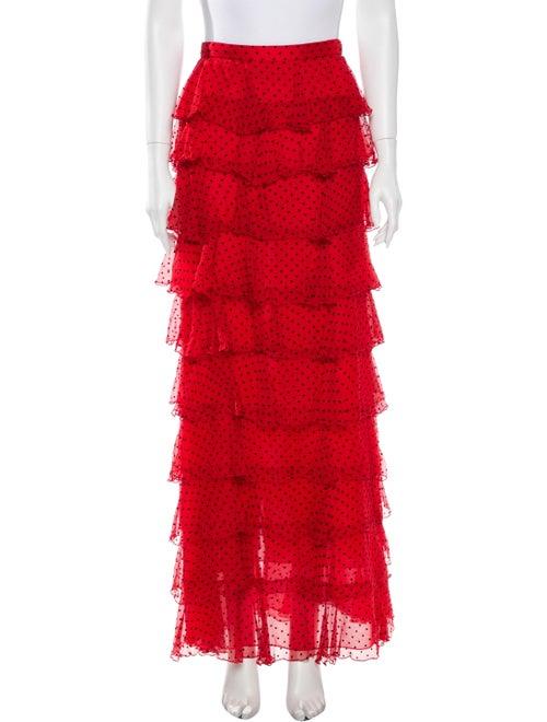 Rodarte Silk Long Skirt Red