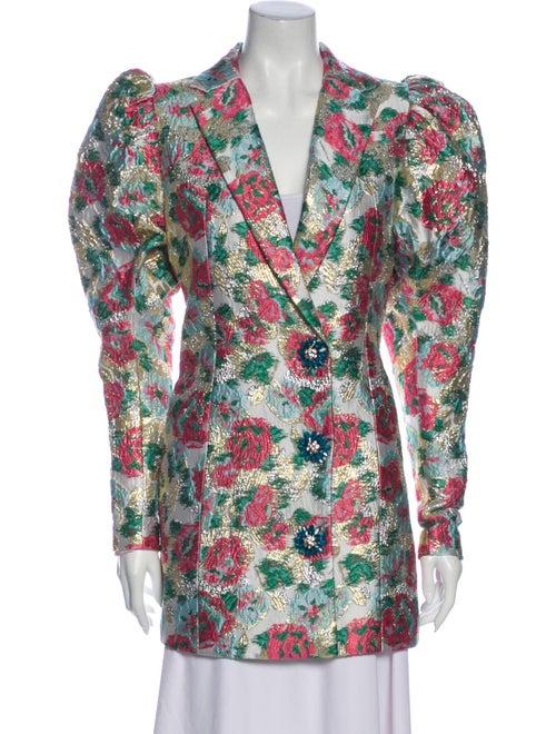 Rodarte Floral Print Blazer