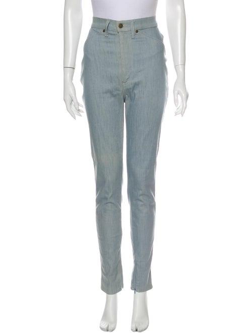 Rodarte High-Rise Straight Leg Jeans Blue