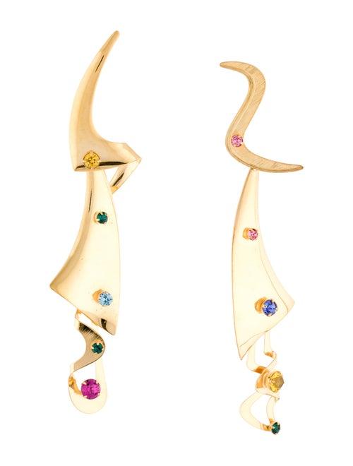 Rodarte Modern Shapes Earrings Gold
