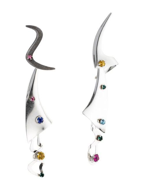 Rodarte Crystal Drop Earrings Silver
