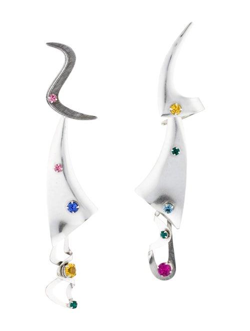 Rodarte Abstract Drop Earrings Silver