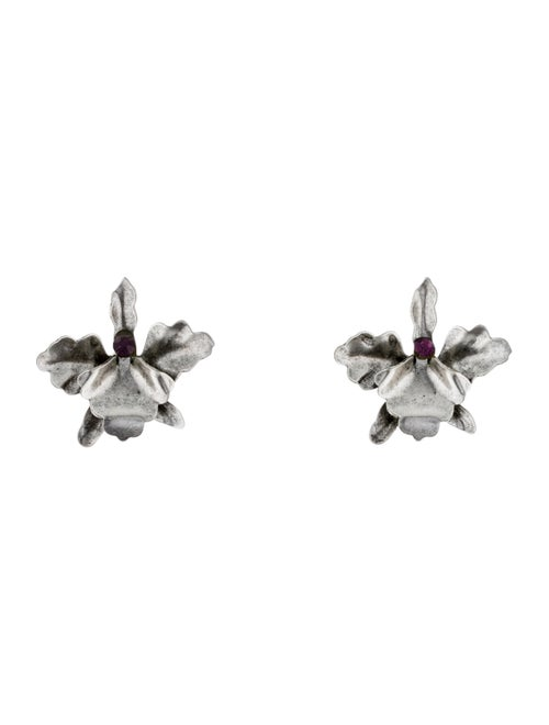 Rodarte Orchid Stud Earrings Silver