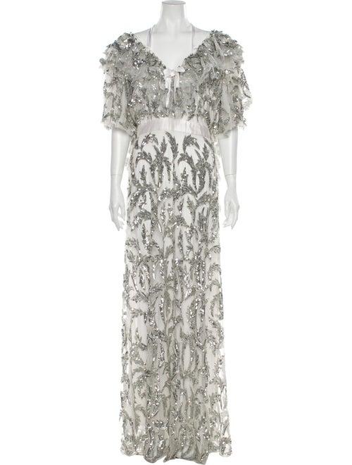 Rodarte 2019 Long Dress Silver