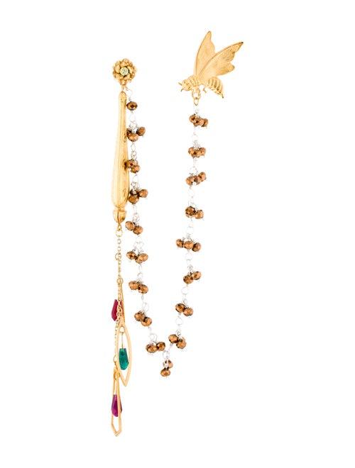 Rodarte Bee Drape Earrings Gold