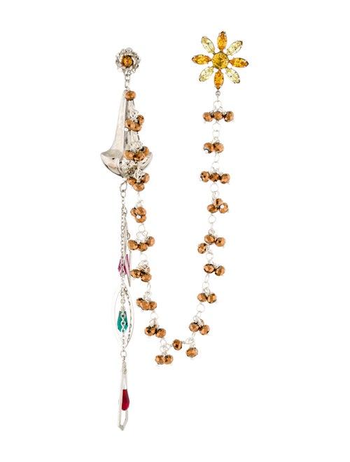 Rodarte Floral Drop Earrings Silver