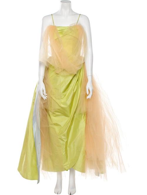 Rodarte 2020 Long Dress Green