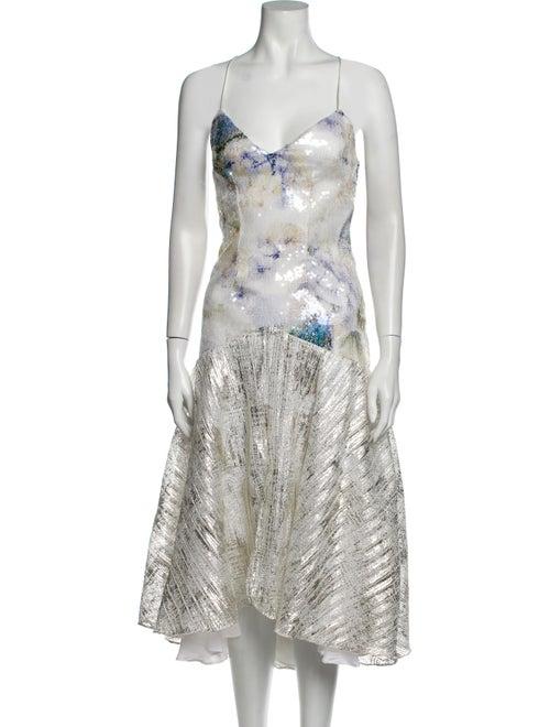 Rodarte Printed Midi Length Dress