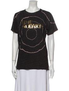Rodarte Graphic Print Crew Neck T-Shirt
