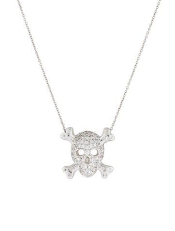 Diamond Skull and Crossbone Necklace
