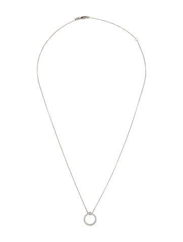 Tiny Treasures Diamond Circle Pendant Necklace