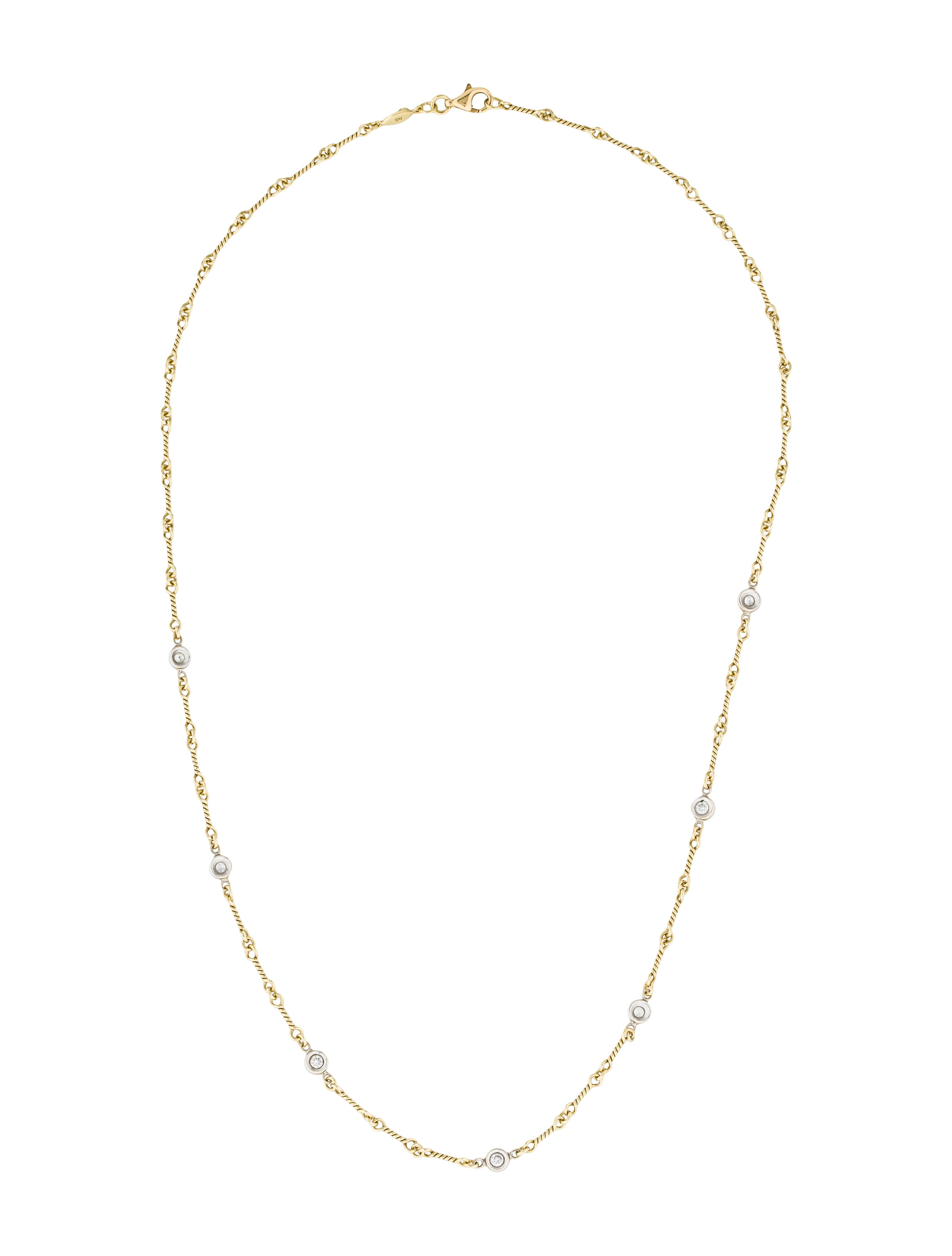 Roberto Coin Diamonds by the Inch Dogbone Chain Necklace