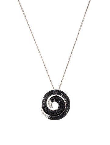 Roberto Coin Sapphire Swirl Pendant Necklace
