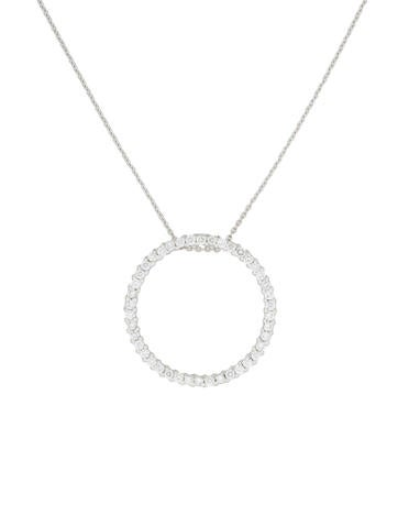 Roberto Coin 18K Diamond Large Circle Pendant Necklace