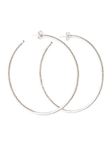 Roberto Coin XXLarge Inside Out Diamond Hoop Earrings