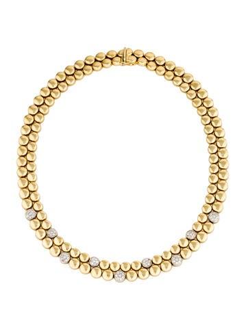 Roberto Coin 18K Diamond Accented Collar Necklace