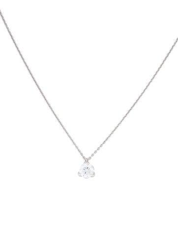 Roberto Coin 18K Cento Diamond Solitaire Tulip Pendant Necklace