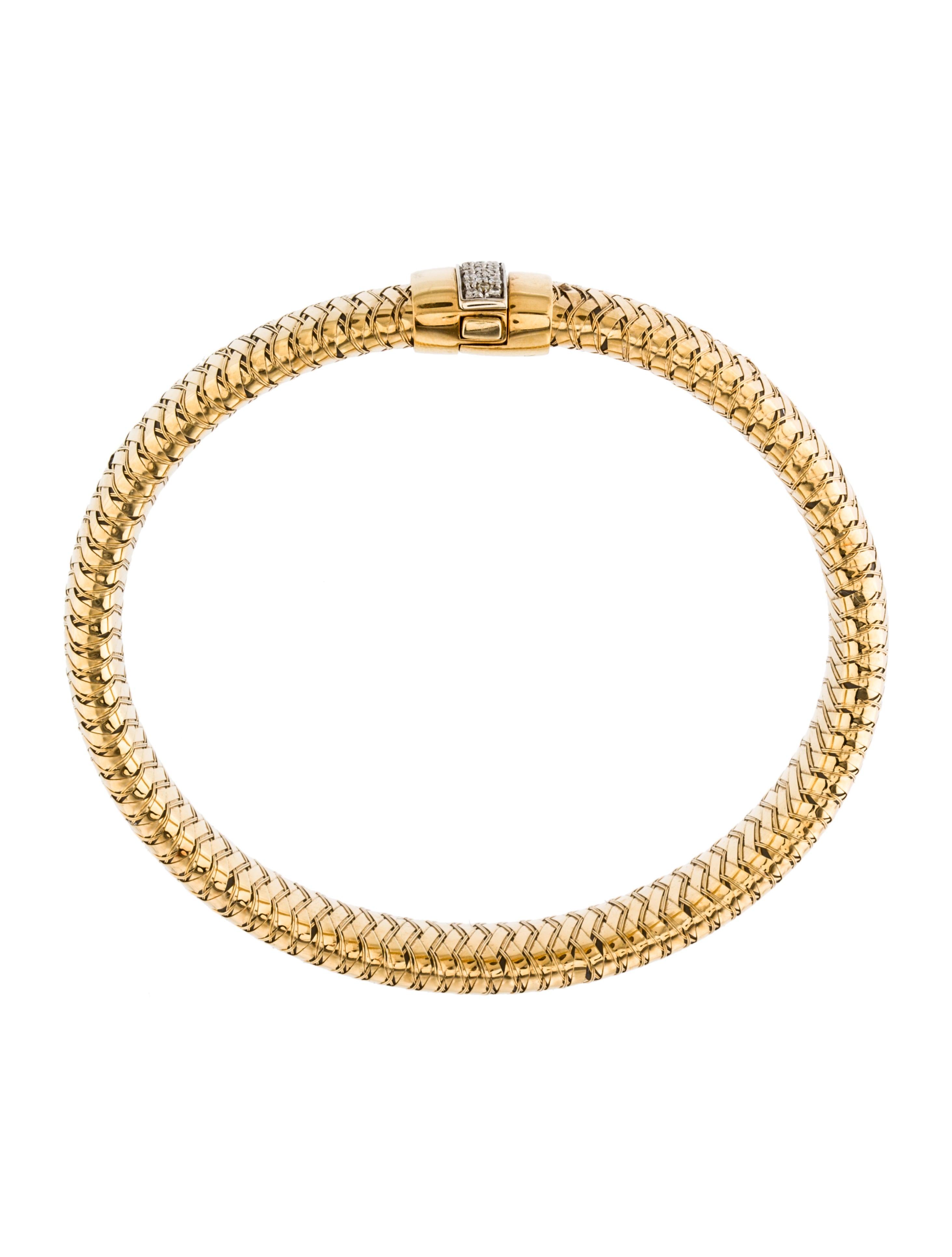Diamond Anklet With Toe Ring Lc00035 In Anklets From: Roberto Coin Diamond Primavera Bracelet