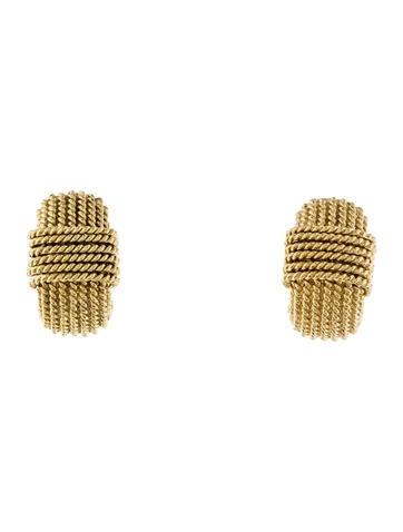 Roberto Coin 18K Textured Hoop Earrings