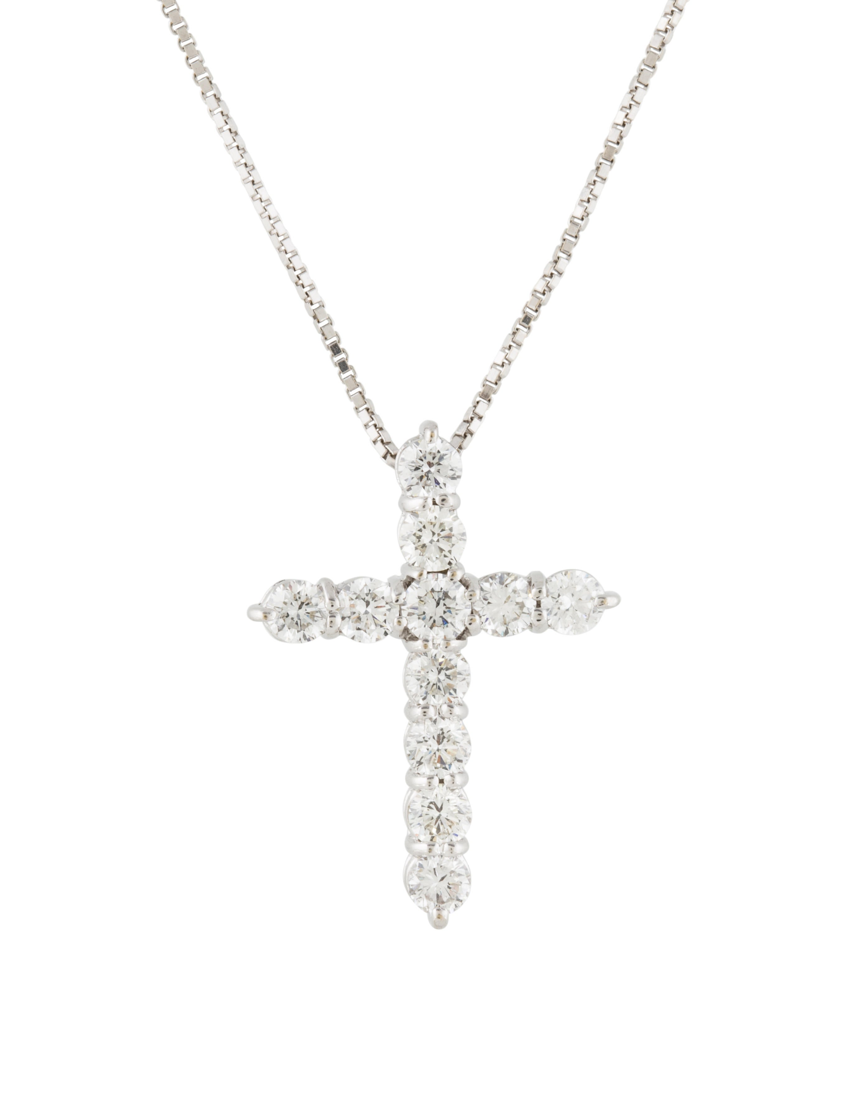 roberto coin 18k diamond cross pendant necklace. Black Bedroom Furniture Sets. Home Design Ideas
