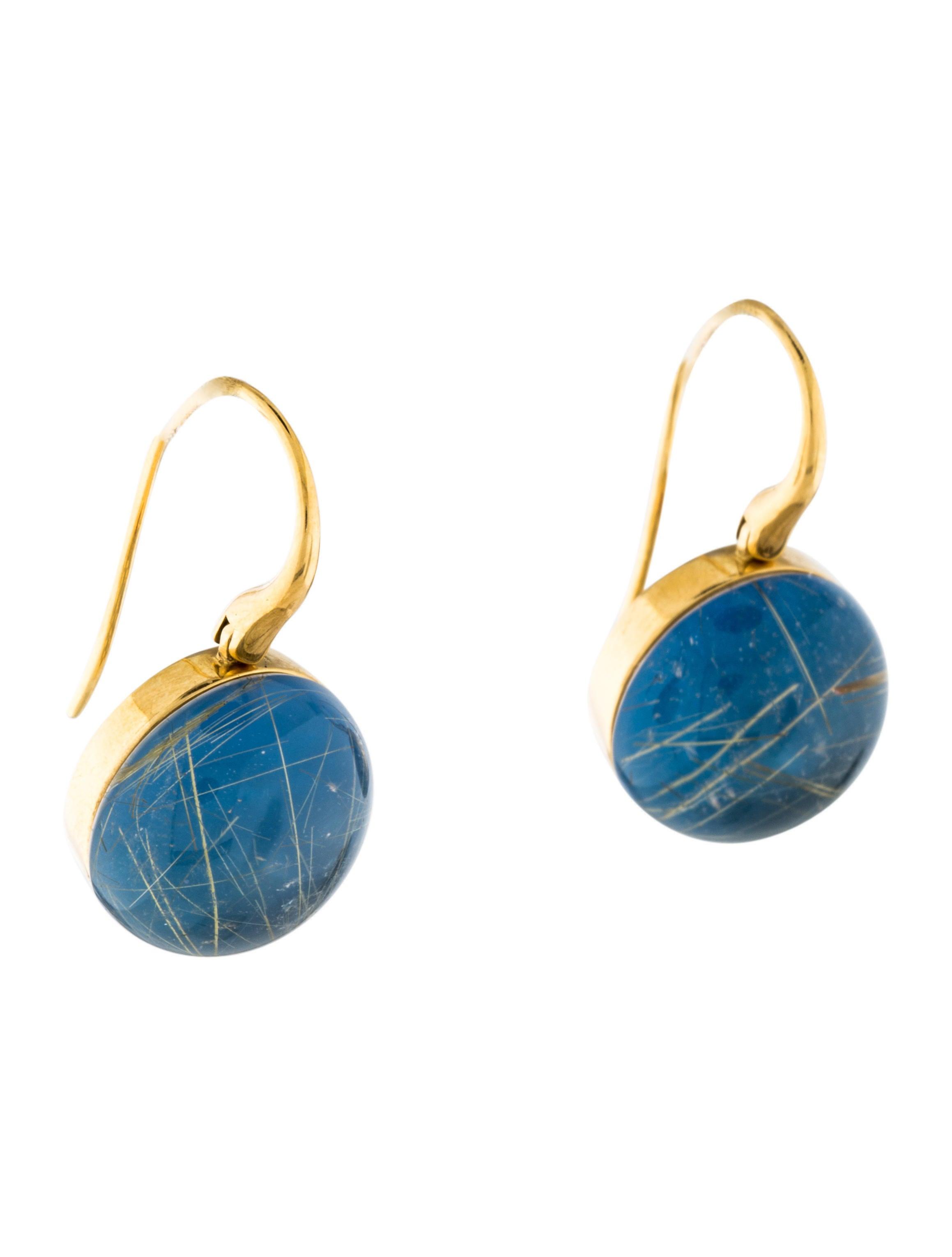 Roberto Coin Rutilated Quartz Drop Earrings Earrings