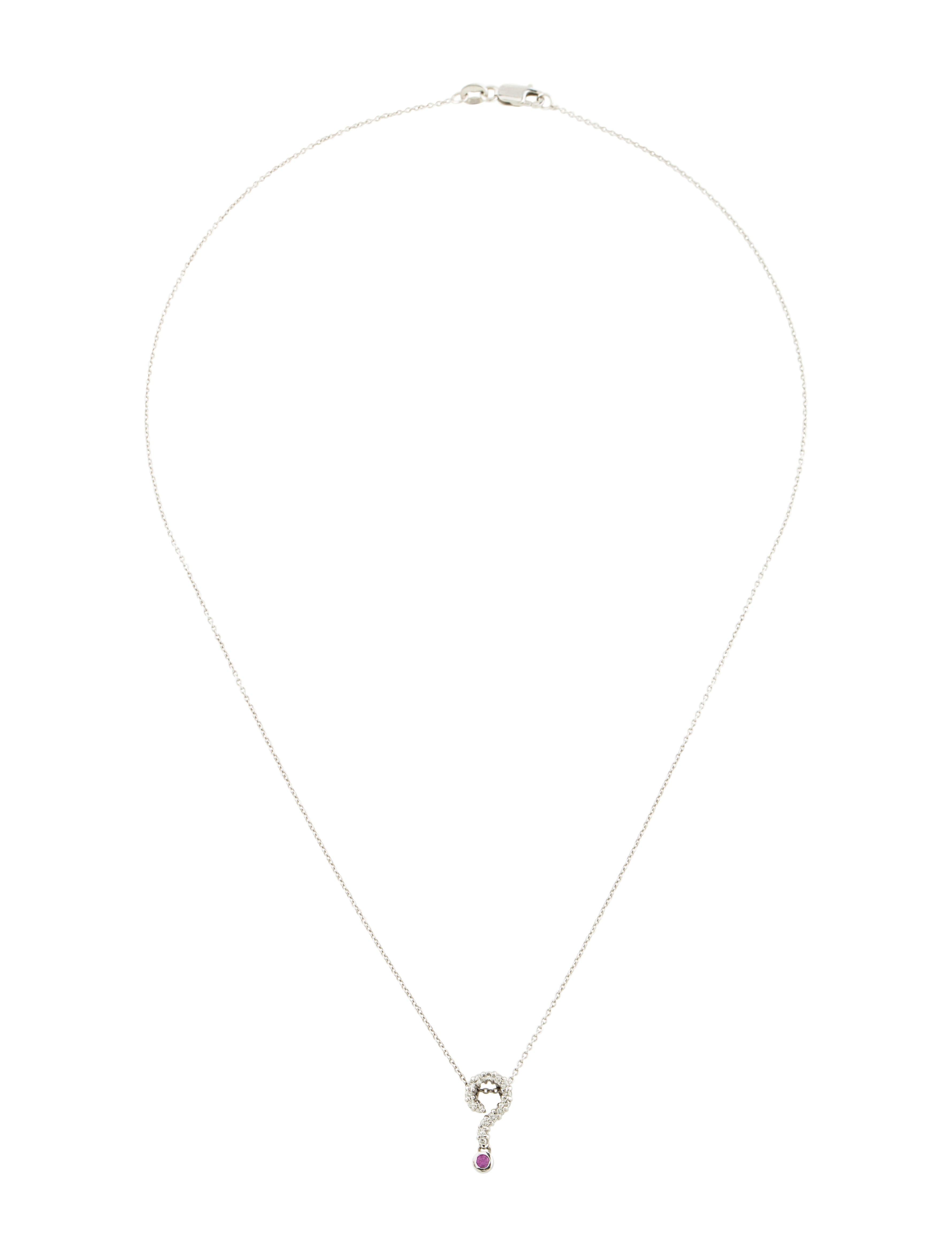 Roberto coin 18k diamond pink sapphire question mark necklace 18k diamond pink sapphire question mark necklace aloadofball Choice Image