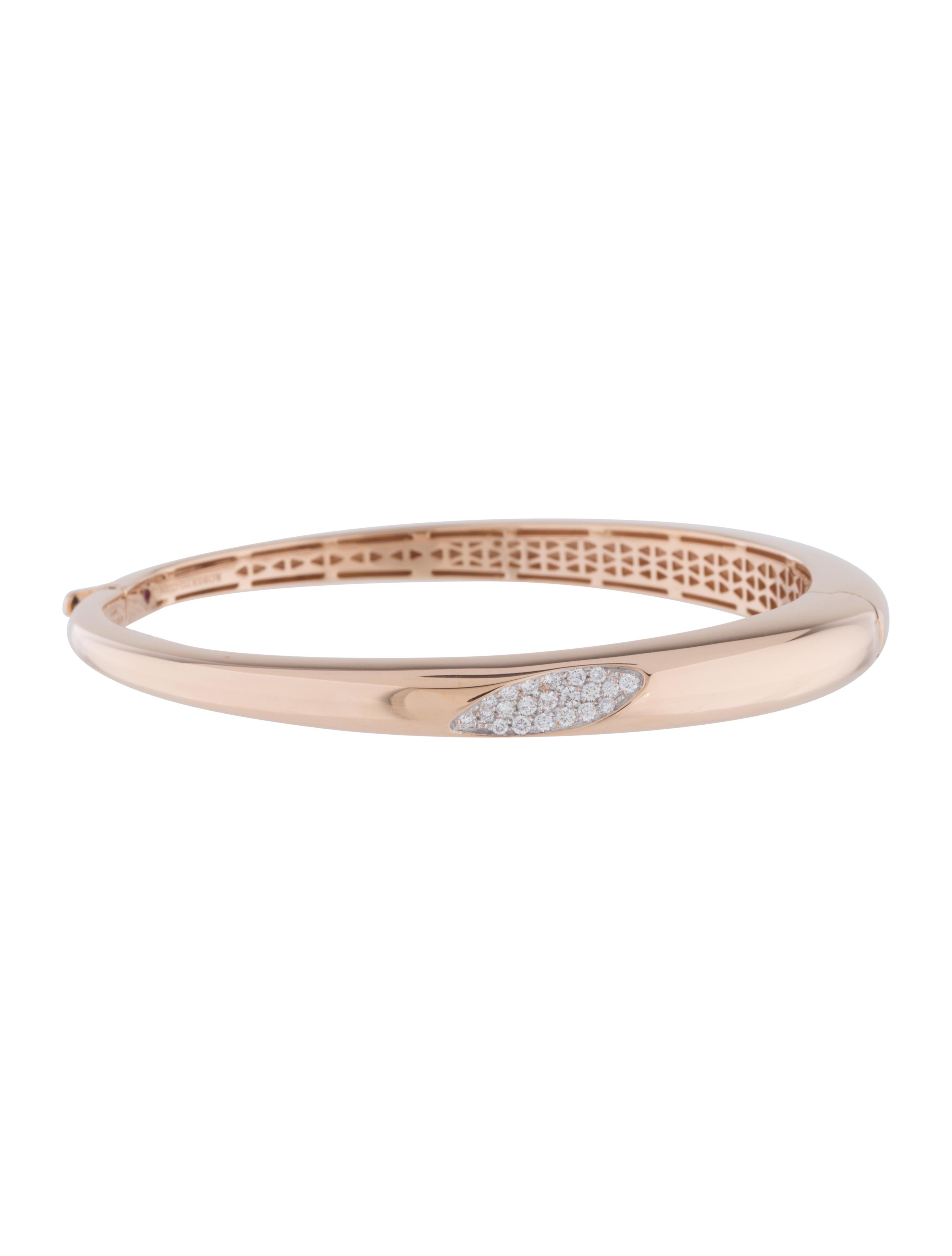 Roberto Coin Capri Plus Diamond Bangle Bracelet in 18k Rose Gold M6ymfLT3m