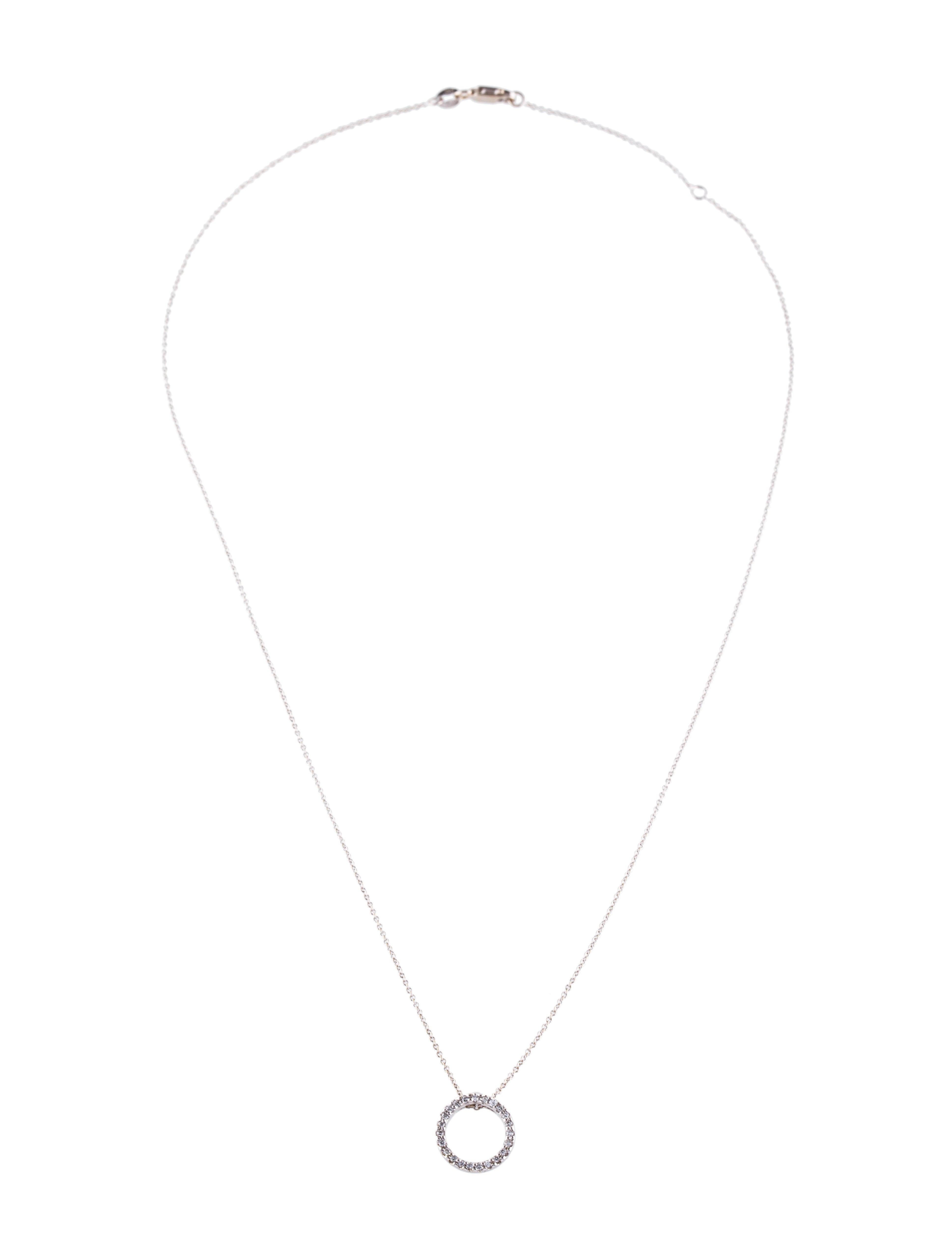 Roberto coin 18k diamond circle pendant necklace necklaces 18k diamond circle pendant necklace aloadofball Gallery