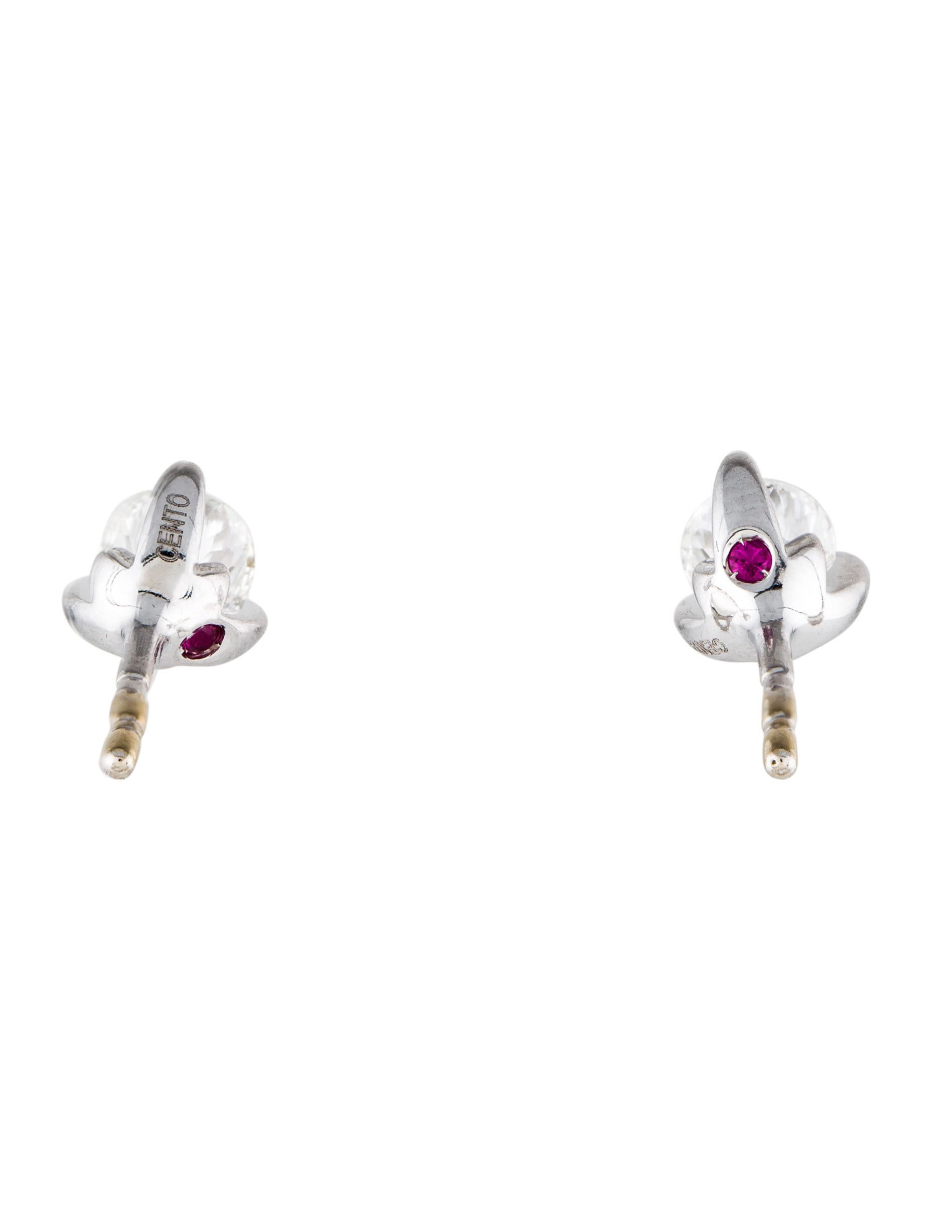 Roberto Coin Cento Diamond Stud Earrings Image Of Earring