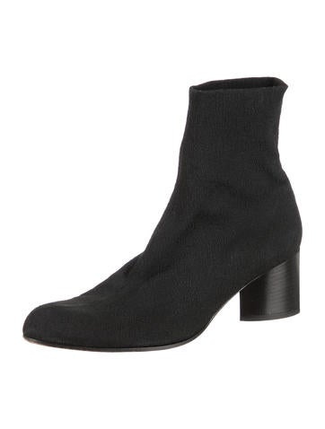 Knit Round-Toe Ankle Boots