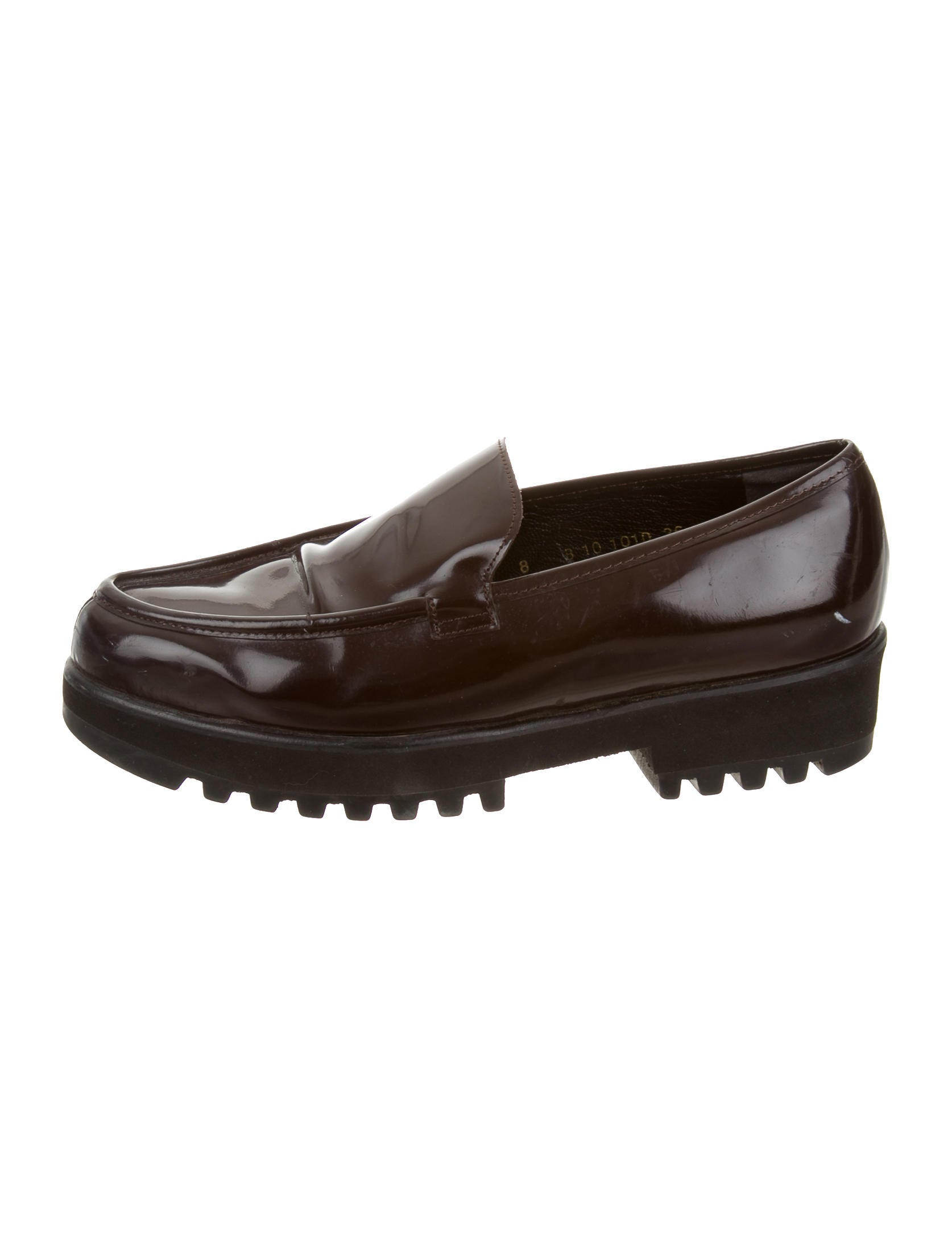 Robert Clergerie Leather Platform Loafers Shoes
