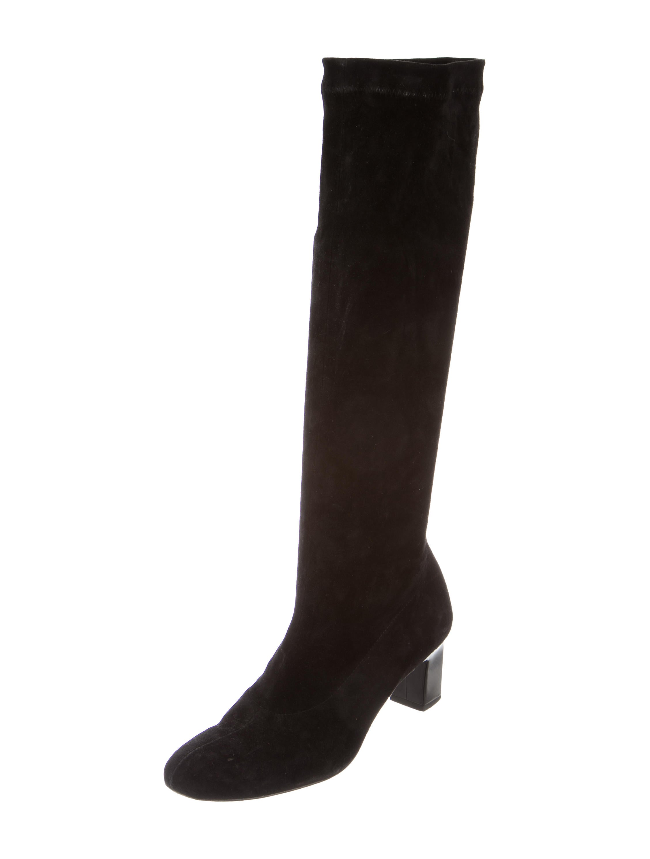 robert clergerie suede knee high boots shoes rog23643