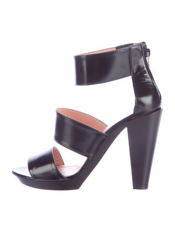 Robert Clergerie Patent Leather Multistrap Sandals w/ Tags