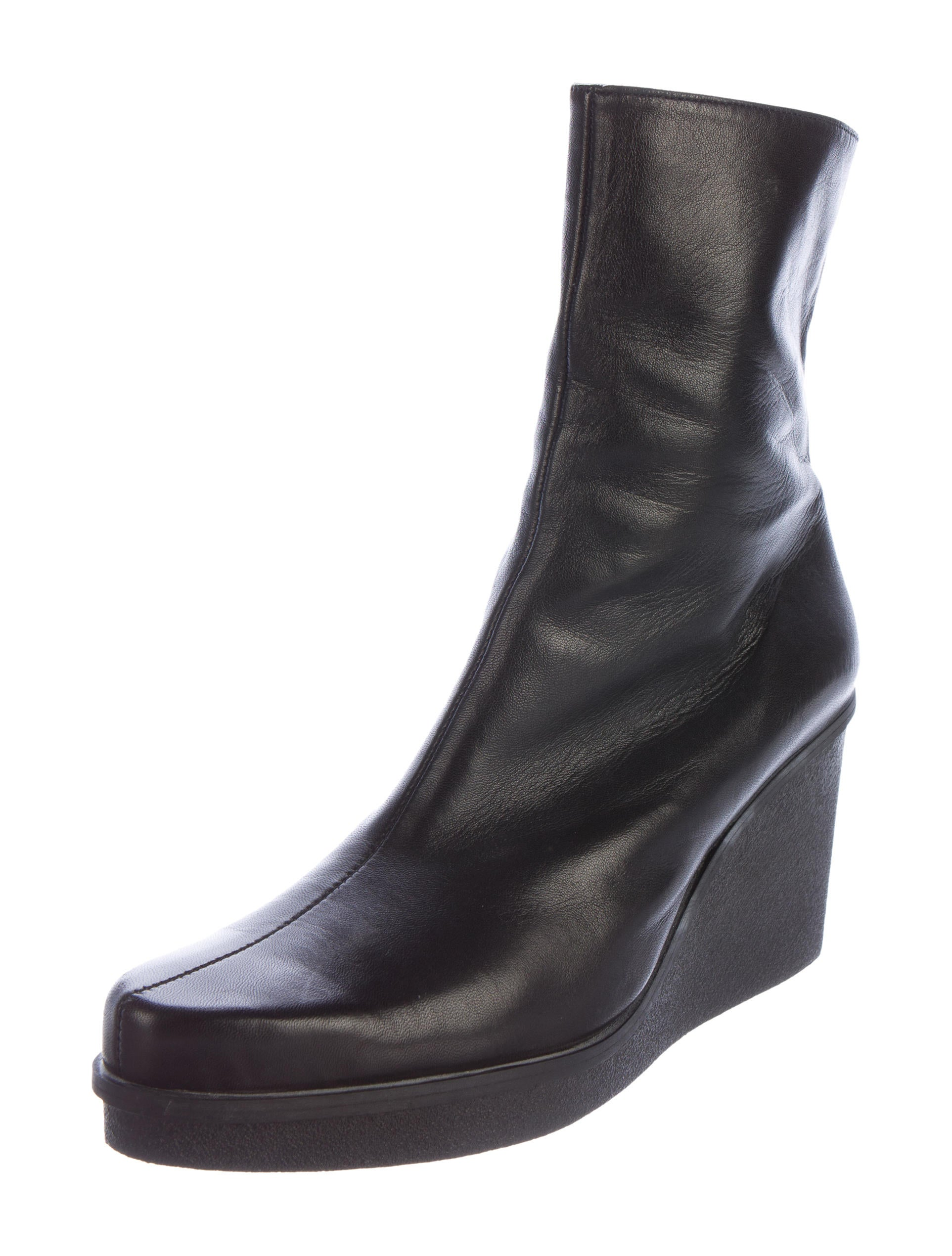 robert clergerie leather wedge boots shoes rog24892