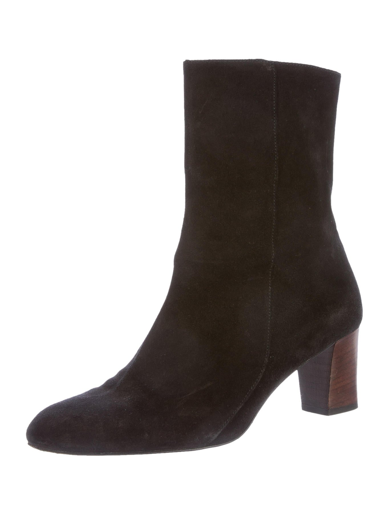 robert clergerie suede toe ankle boots shoes