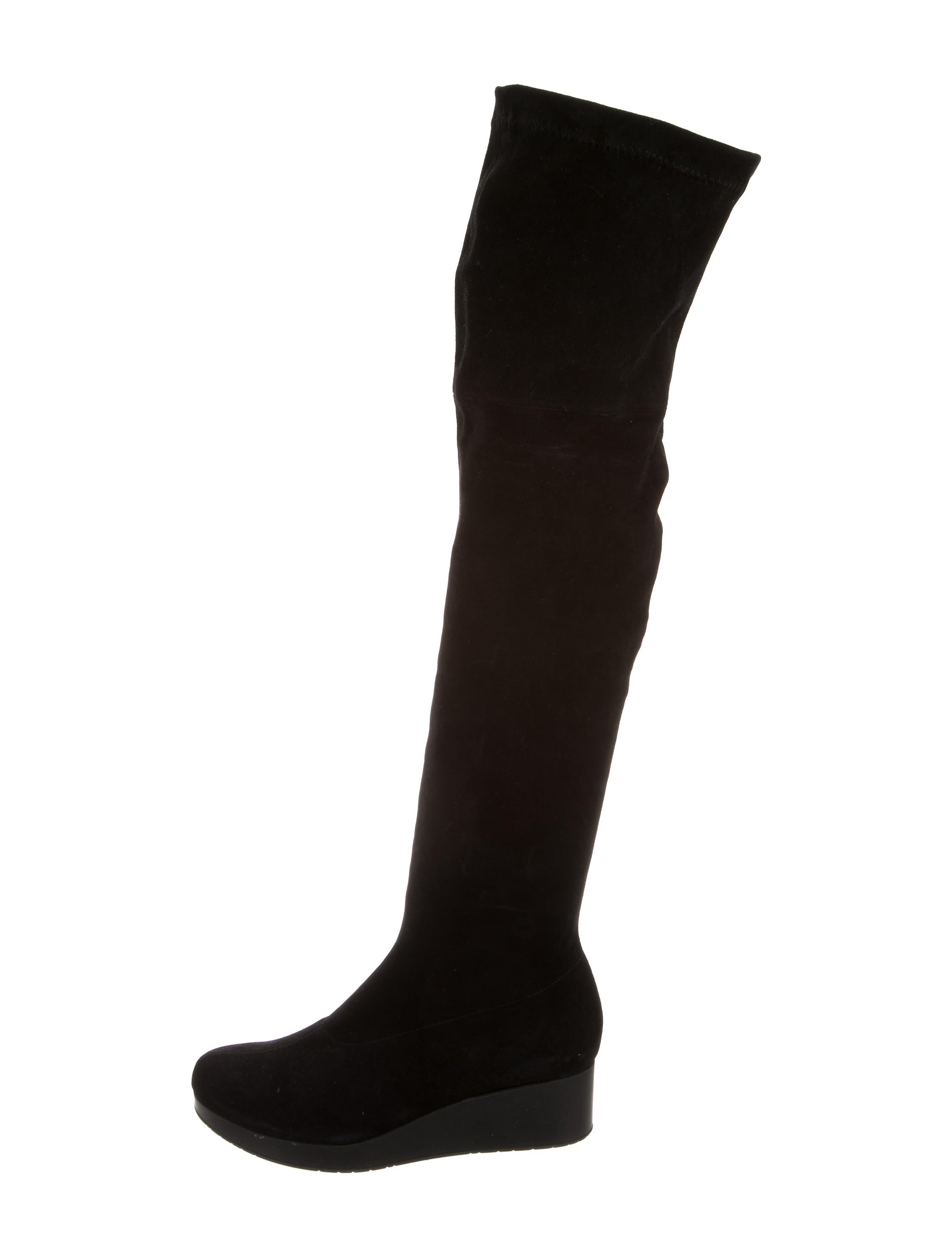 robert clergerie suede wedge boots shoes rog25118
