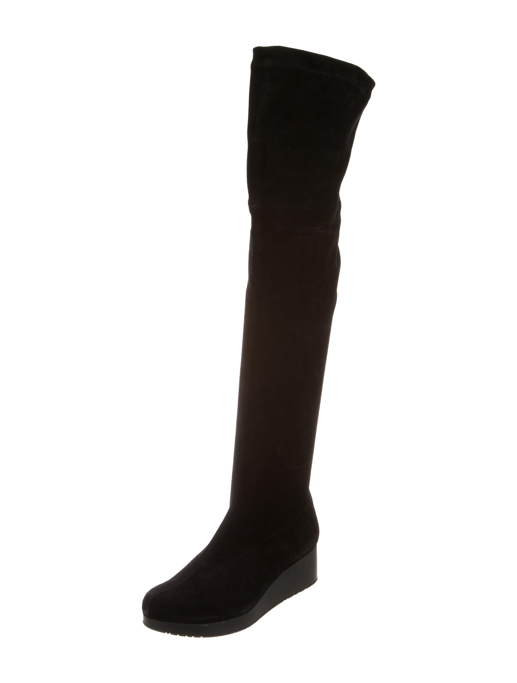 robert clergerie suede wedge boots shoes rog25119