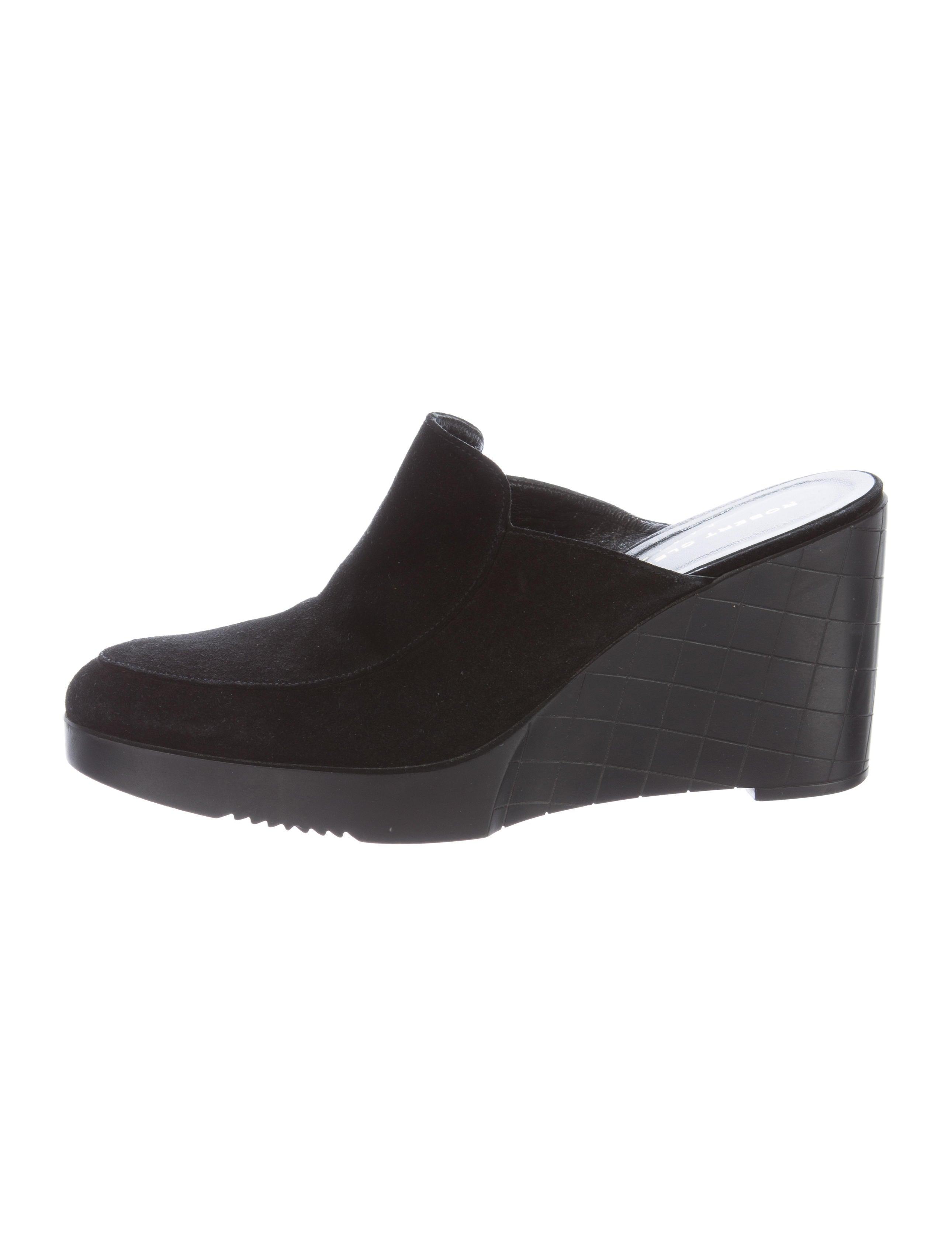 robert clergerie platform suede mules shoes rog25203