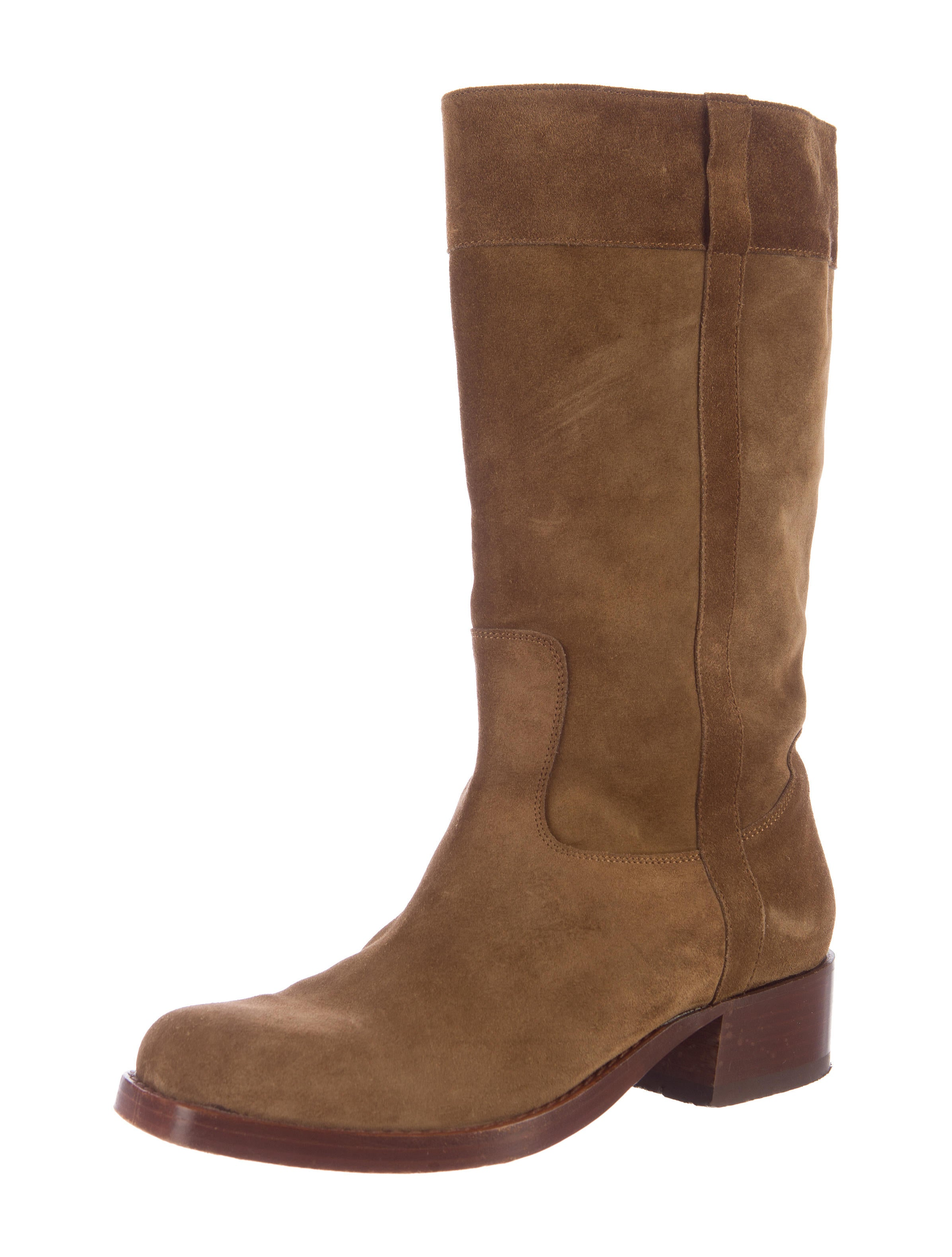 robert clergerie suede mid calf boots shoes rog25321