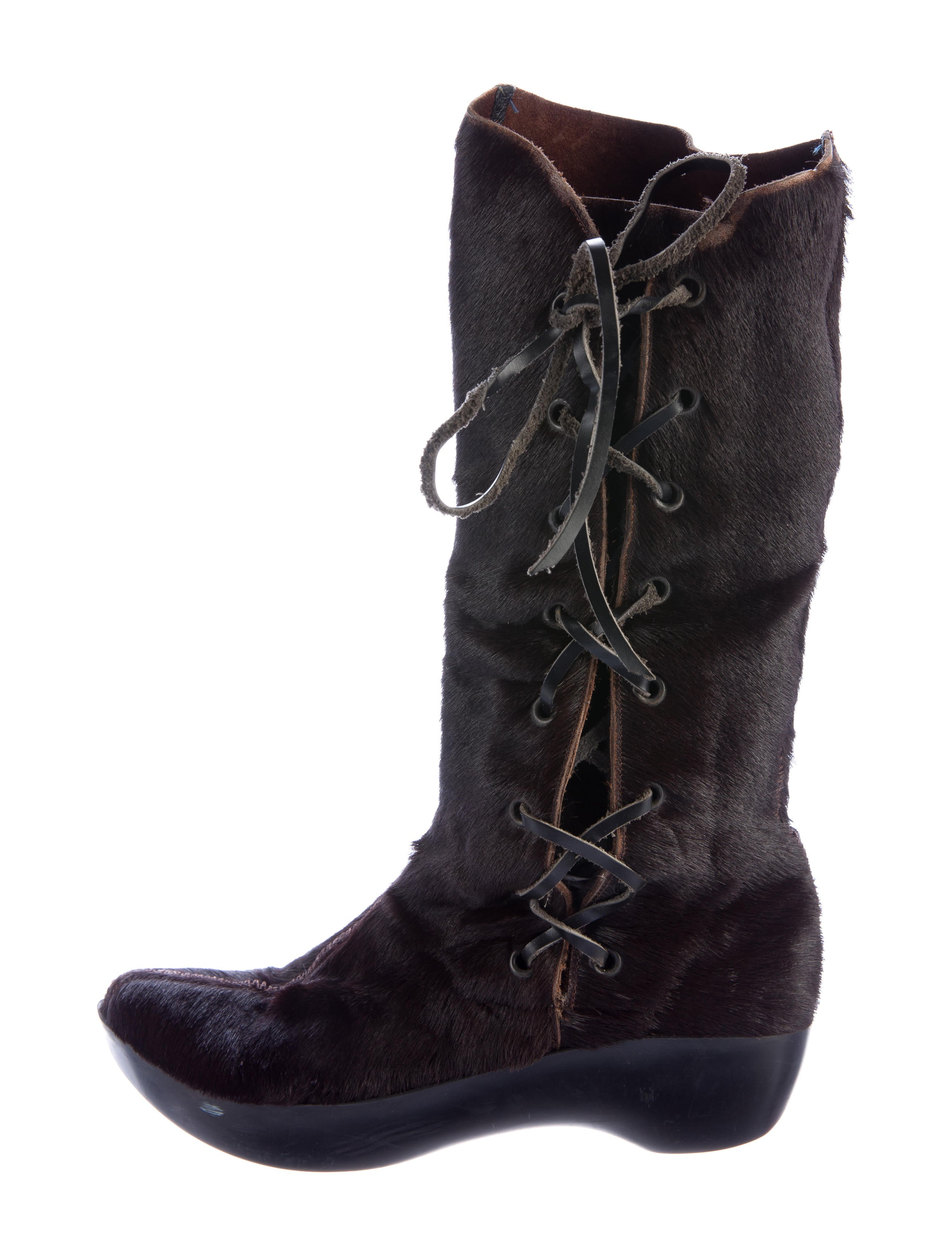 with credit card fake for sale Robert Clergerie Ponyhair Mid-Calf Boots wZtO6xGMD
