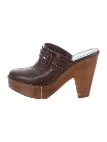 discount manchester great sale Robert Clergerie Buckle-Accented Platform Clogs free shipping supply cheap sale extremely cheap exclusive 25jN0CCw