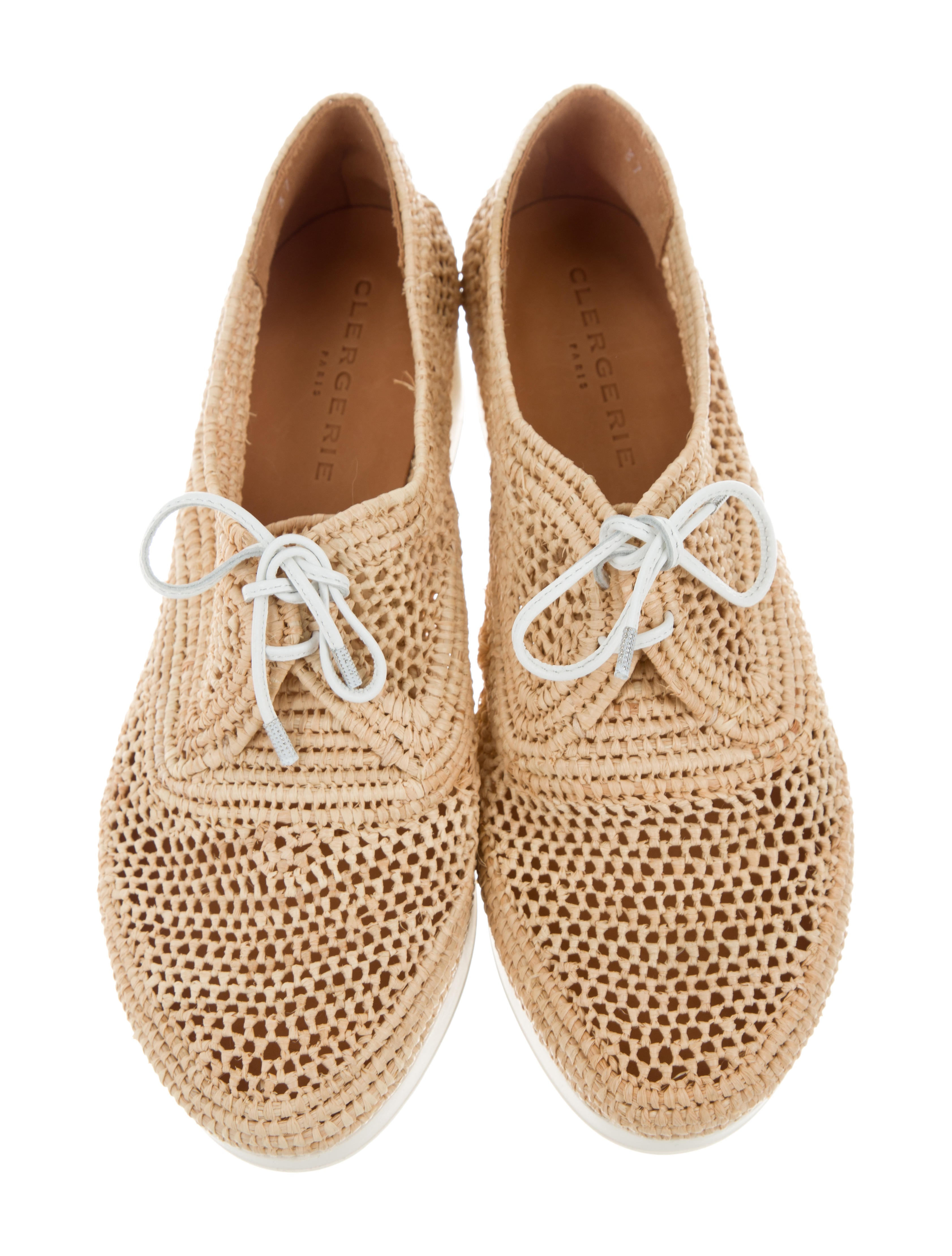 Robert Clergerie Straw Flatform Oxfords outlet ebay original cheap price with paypal cheap price outlet largest supplier v87vzV2