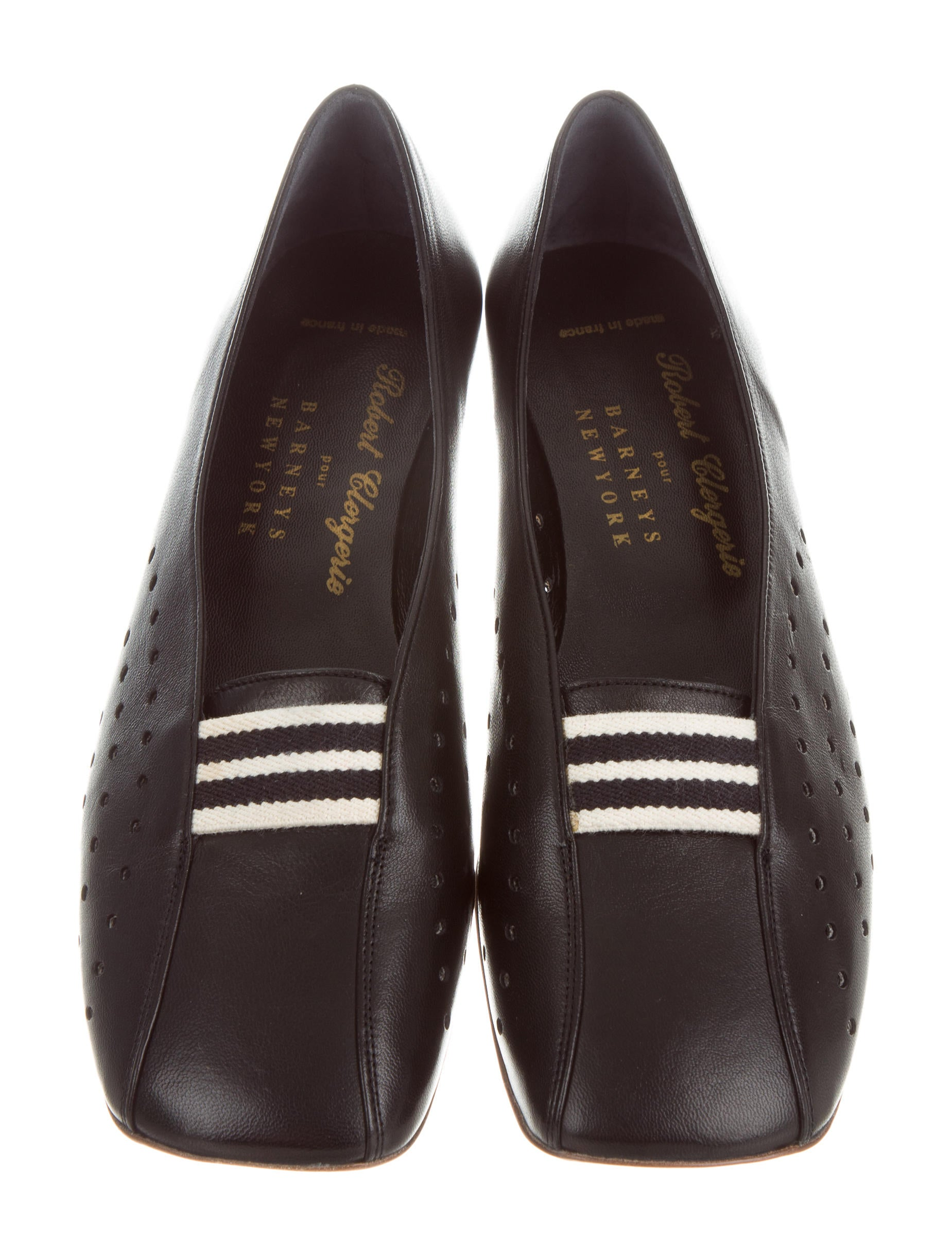 Robert Clergerie Square-Toe Leather Flats w/ Tags nicekicks for sale cheap sale comfortable visit qNzCXbrMvh